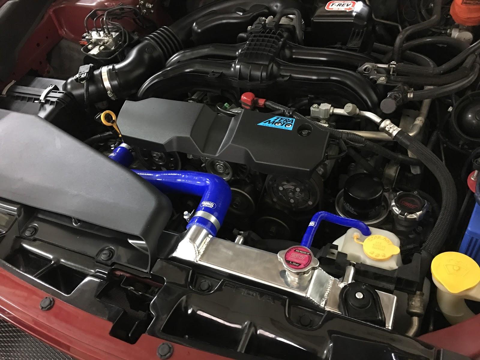 [傑誠國際 - JP Racing] 專業日系車改裝分享部落格: Subaru Legacy BR 更換 Koyo全鋁加大水箱 / 低溫水龜 / 防爆水管 /束環