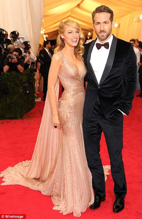 Blake Lively and her husband, Ryan Reynolds at the Met Gala 2014