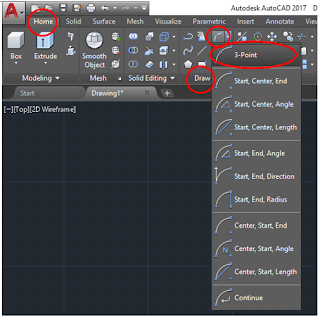 Making Arc with 3-point method in AutoCAD