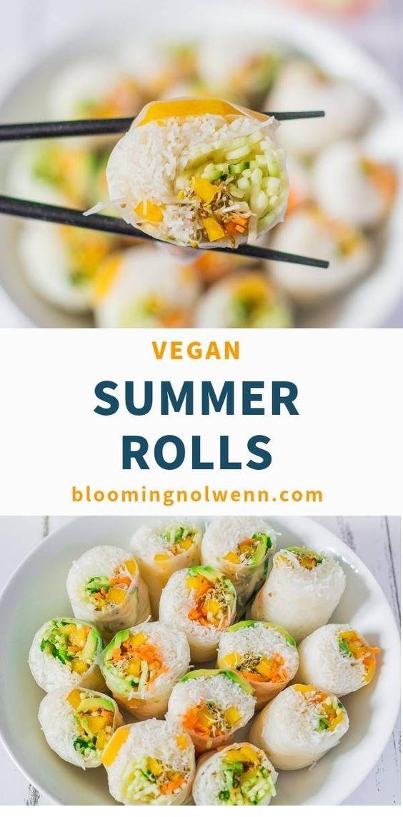 Vegan Rice Paper Summer Rolls