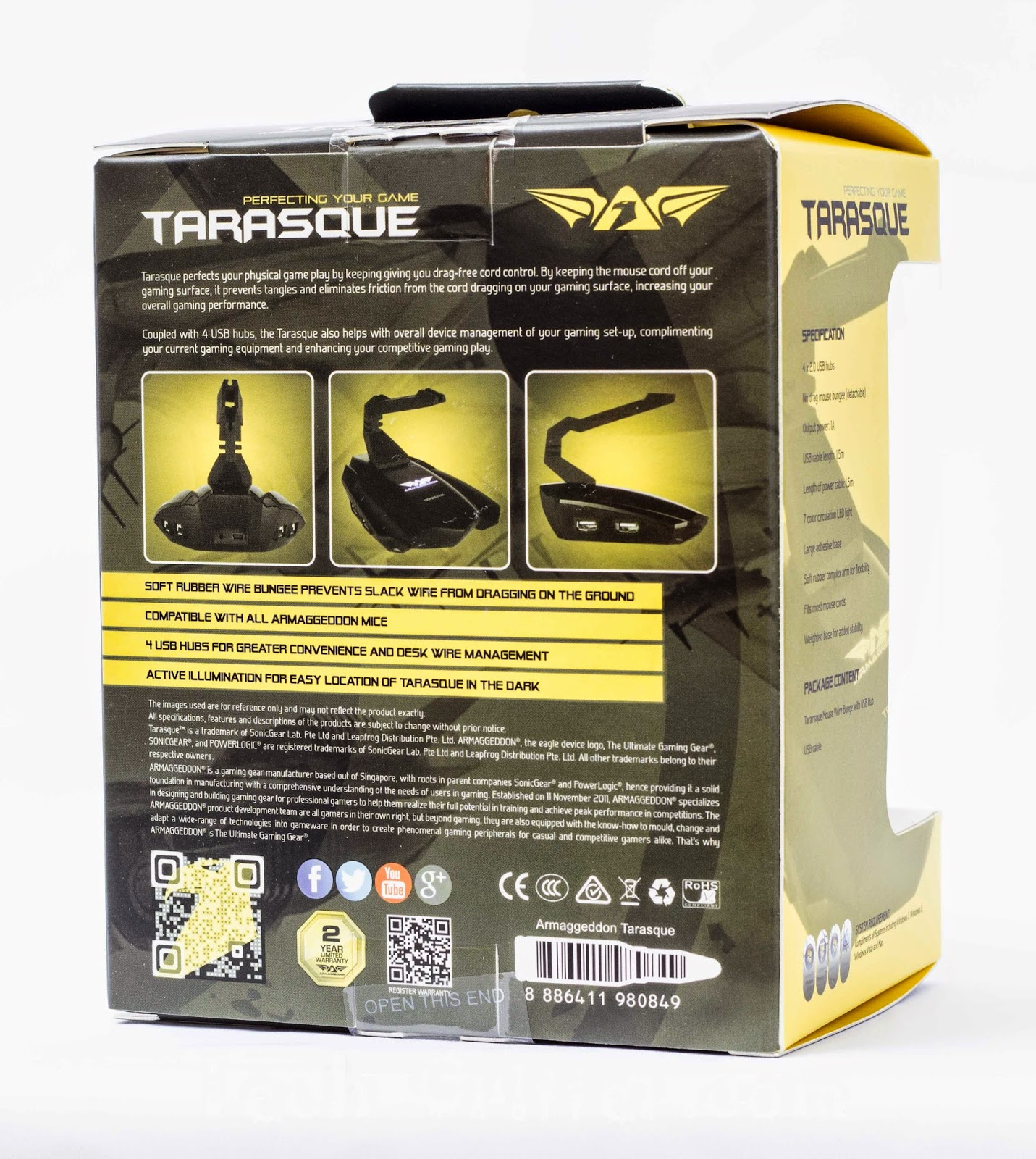 Unboxing & Review: Armaggeddon Tarasque Mouse Bungee 34