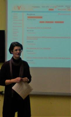 Dalia Balčytytė pristatinėja virtualią biblioteką ELVIS