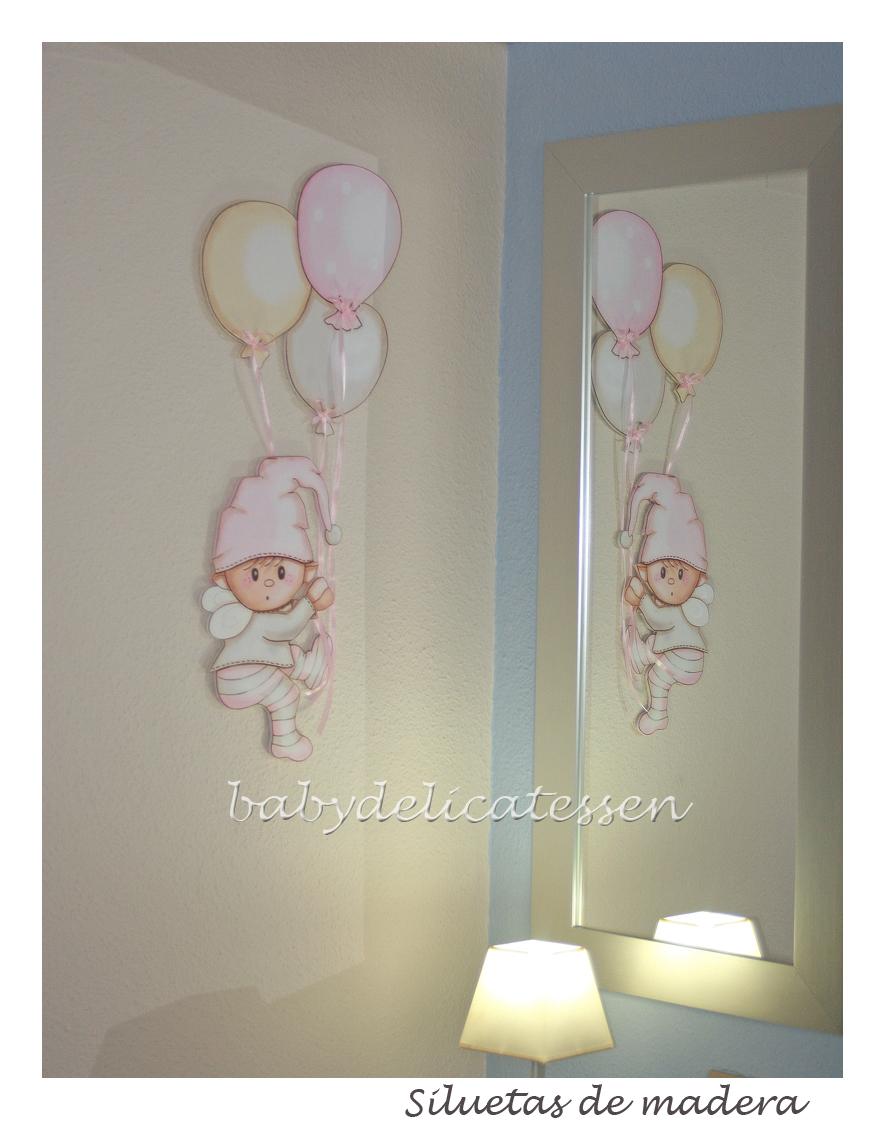 Baby delicatessen silueta duende sweet dreams para nahiara - Siluetas madera infantiles ...