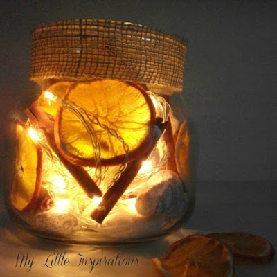 DIY Lampada con Arance essicate 5 - MLI