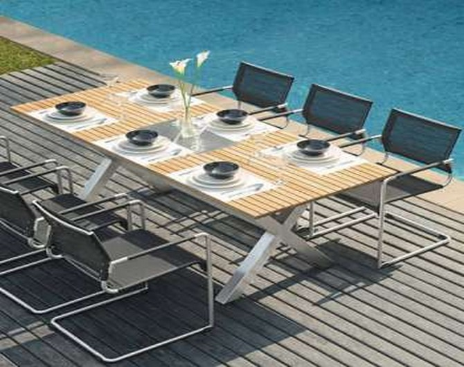 outdoor table and chairs modern