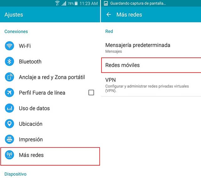 redes moviles para unefon en lollipop