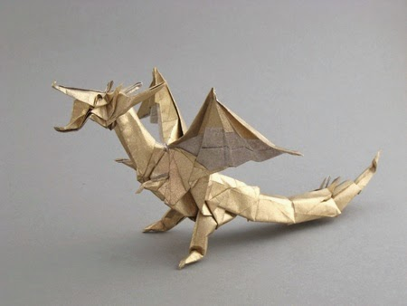 3D origami Chinese dragon tutorial Gyarados (video with a surprise ... | 338x450