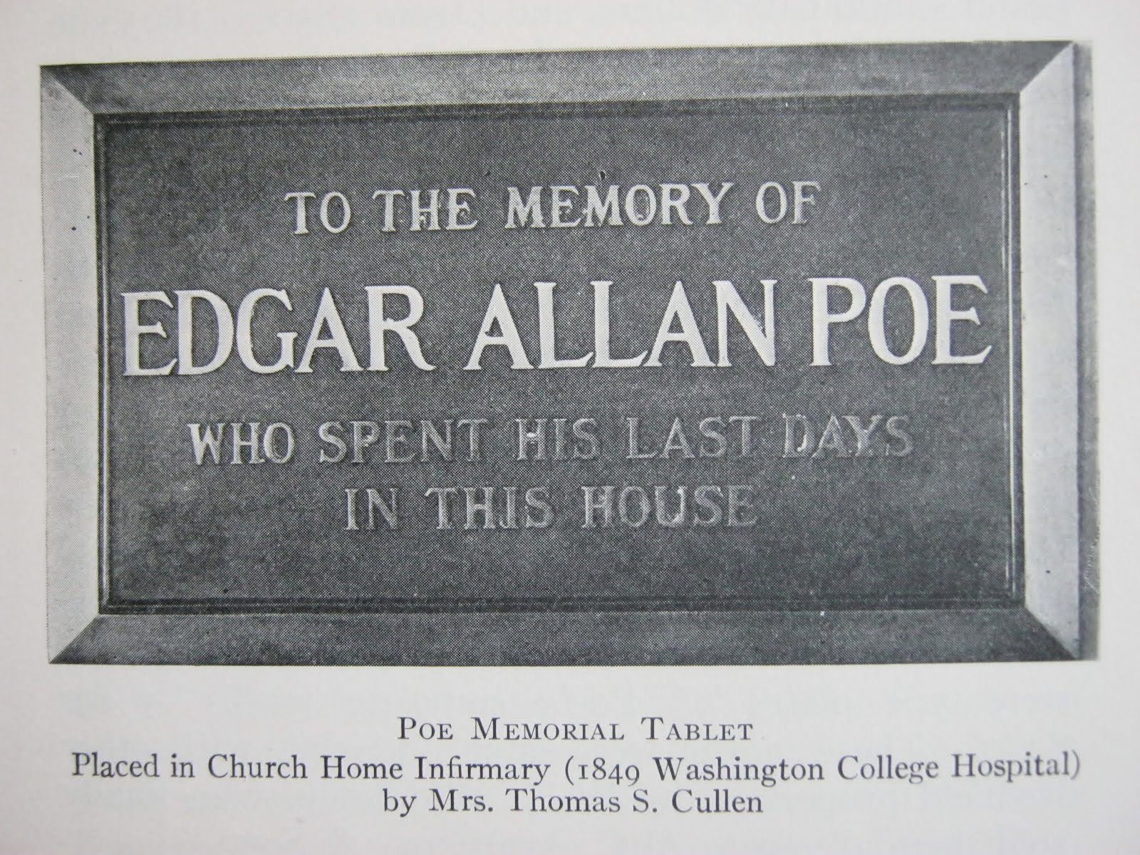 Death of Edgar Allan Poe
