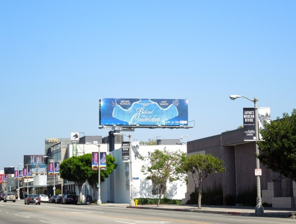 Behind Candelabra billboard