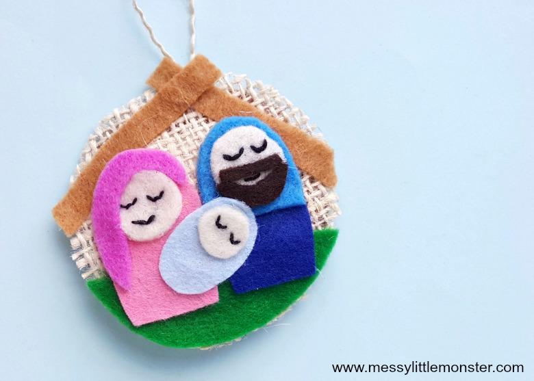 Nativity ornaments. Christmas crafts for kids. Nativity craft.