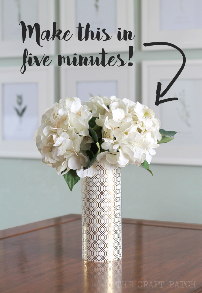 The craft patch diy geometric metallic vase
