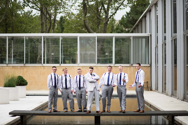 groomsmen at wayne state McGregor Memorial Conference Center