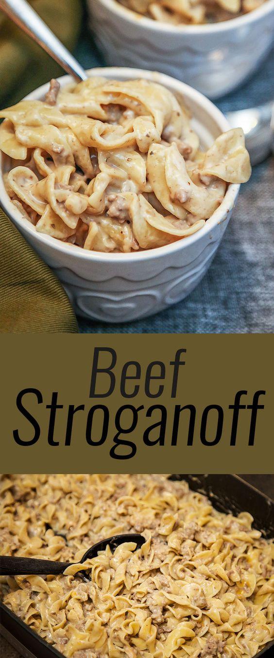 Beef Stroganoff #beef #beefrecipes #beefstroganoff #dinner #dinnerideas #dinnerrecipes #easydinnerecipes
