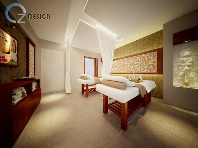 Cách phối màu quầy lễ tân trong thiết kế nội thất spa