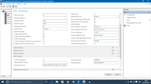NAS Setting Microsoft Dynamics 2013 R2 Administration