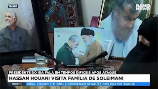 Hassan Houani visita família de Soleimani