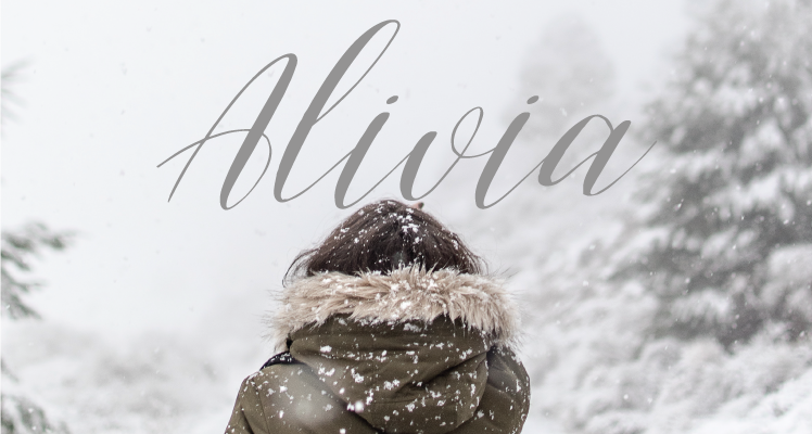 Alivia free font preview