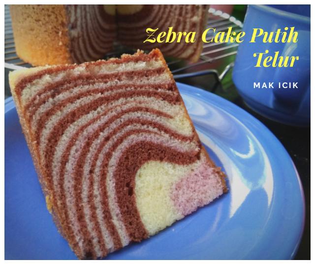 Resep Zebra Cake dengan Memanfaatkan Putih Telur Sisa Baking
