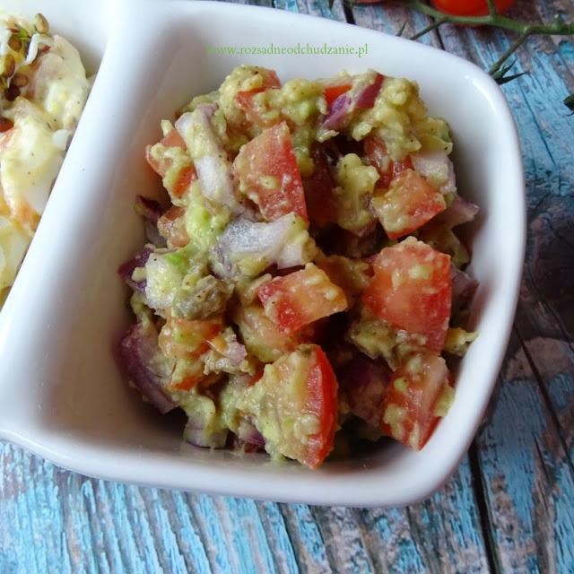 Pasta z awokado- guacamole