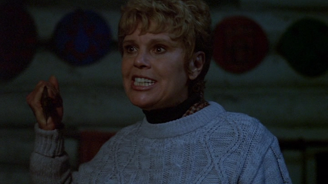Betsy Palmer as Mrs. Voorhees in FRIDAY THE 13TH (1980).