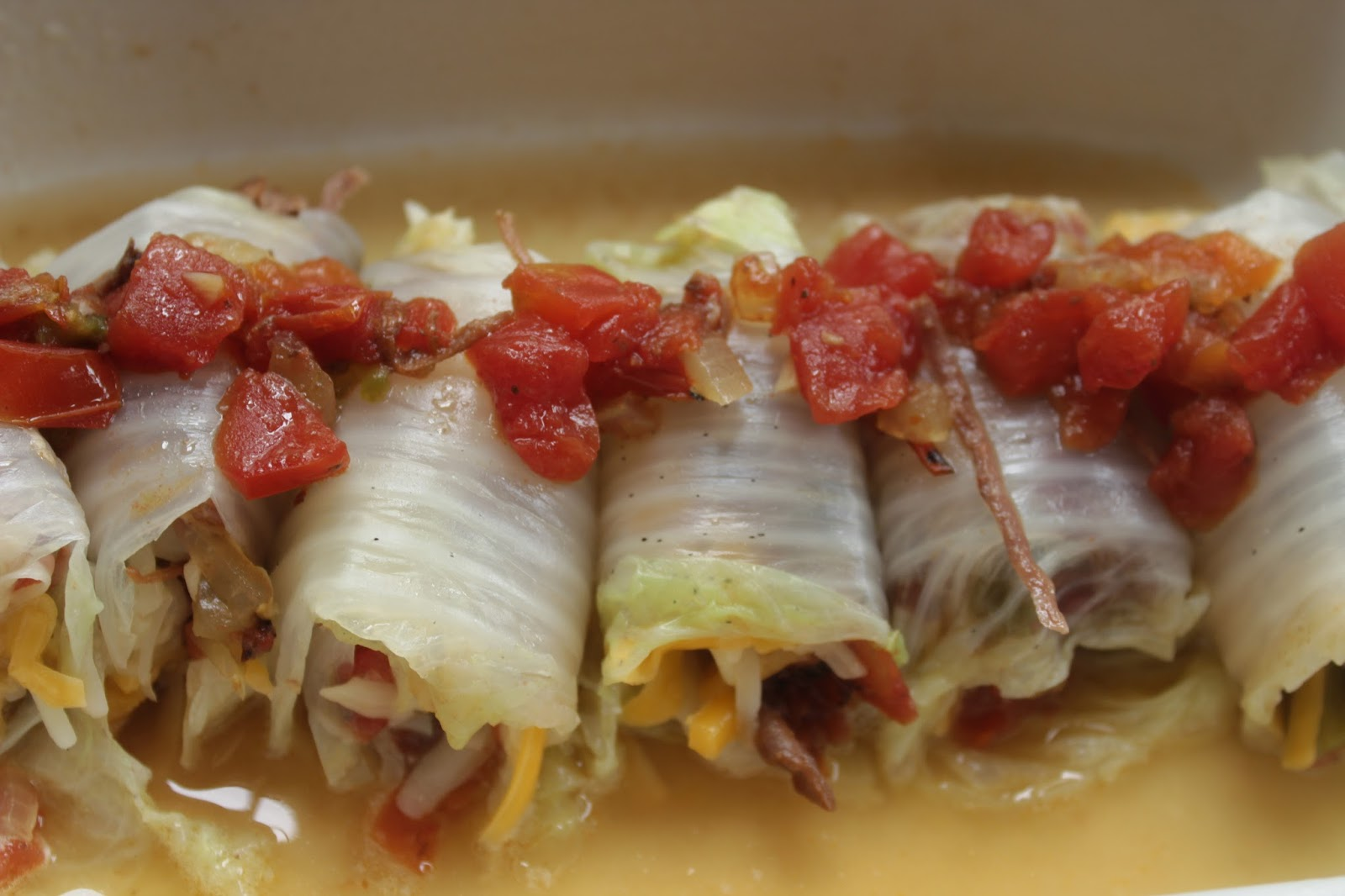 Crock Pot Shredded Italian Beef Cabbage Rolls