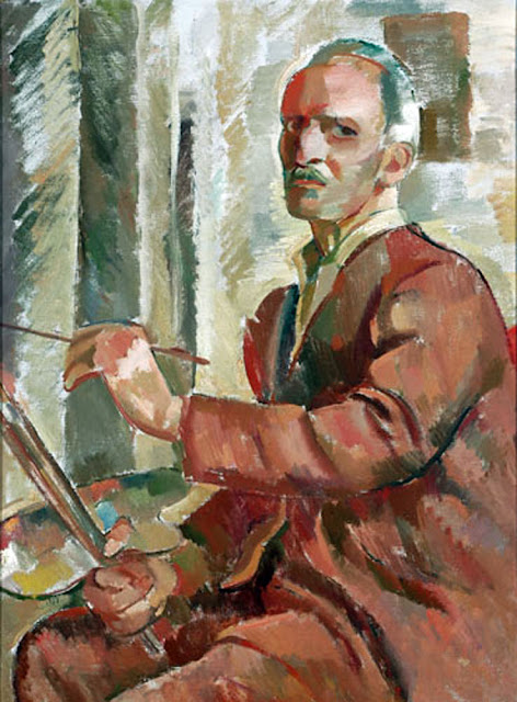 Augusto Eguiluz, Self Portrait, Portraits of Painters, Fine arts, Portraits of painters blog, Paintings of Augusto Eguiluz, Painter Augusto Eguiluz