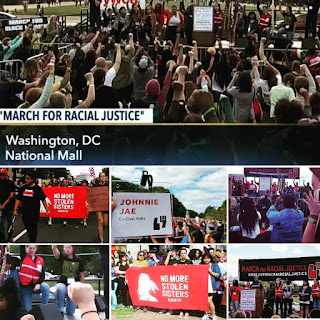 images from the March for Racial Justice