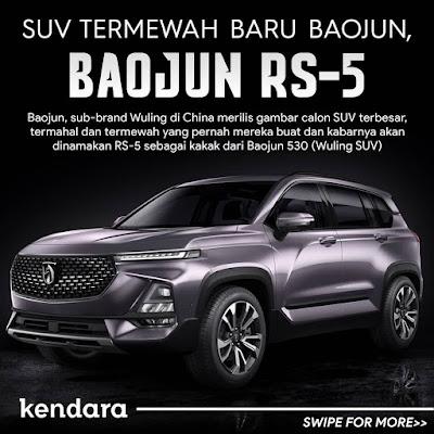 SUV wuling paling mahal akhirnya rilis dengan nama Baojun RS-5. Kapan masuk Indonesia ya?