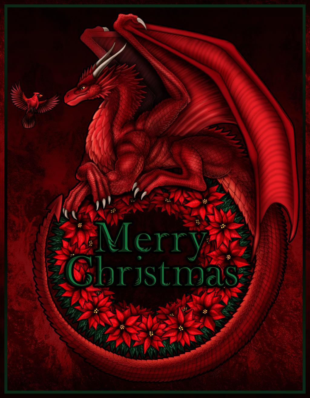Natal com temática de dragão