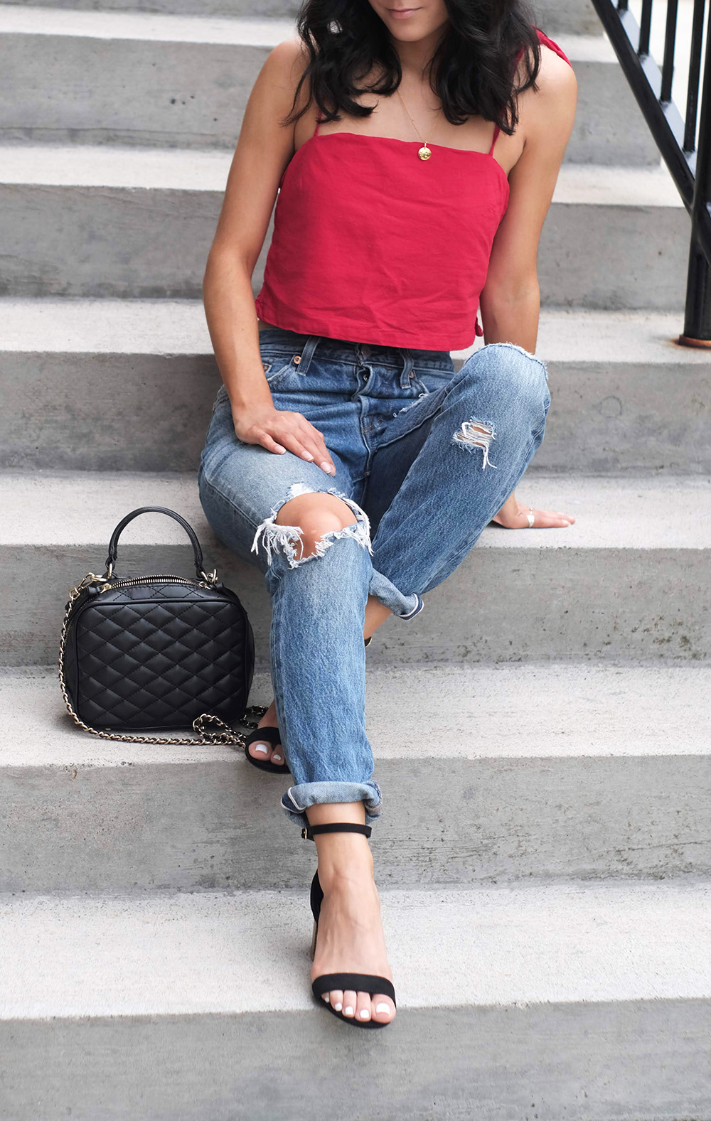 easy summer outfits   red outfit for summer ideas