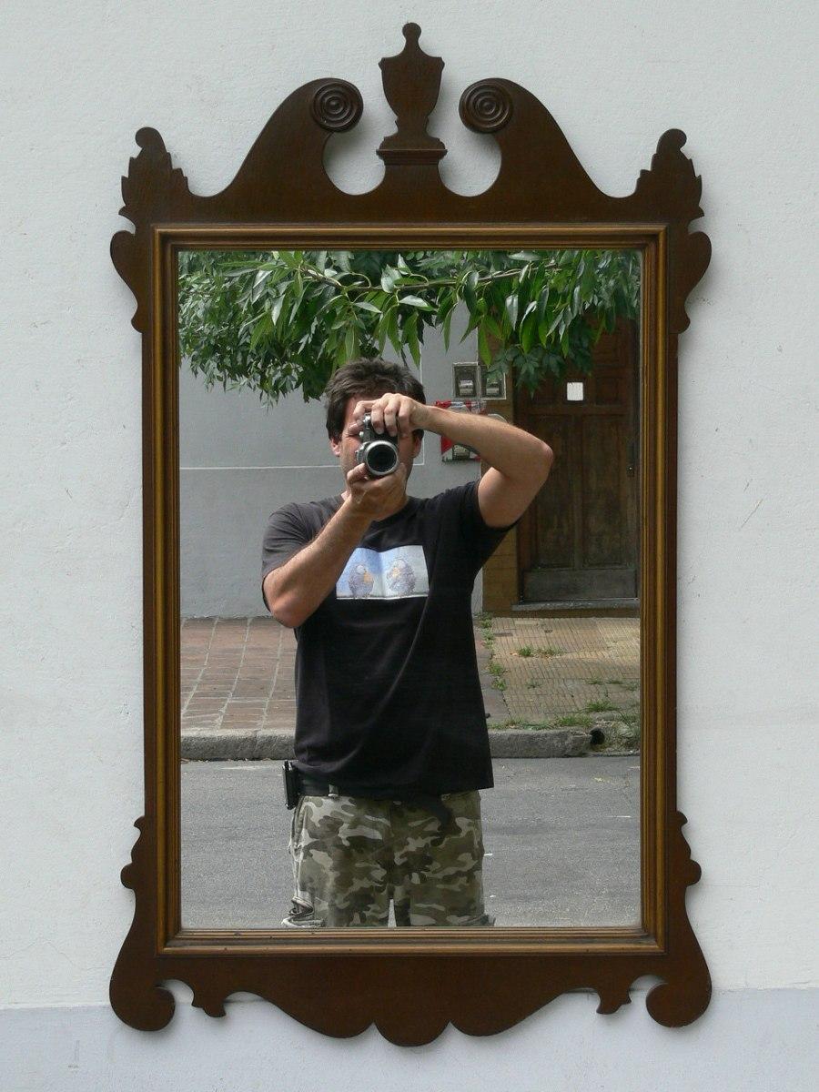 Violetas los espejos jose luis borges for Espejo marco madera