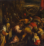 Carrying of the Cross by Leandro Bassano - Religious Paintings from Hermitage Museum