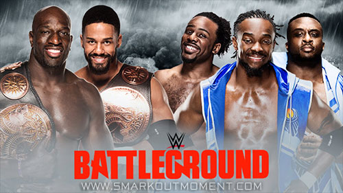 WWE Battleground 2015 Tag Team Championship Match