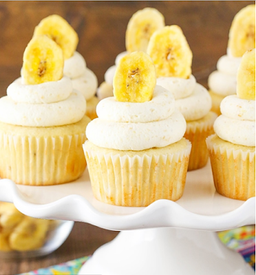 BANANA CREAM PIE CUPCAKES #dessert #cakes