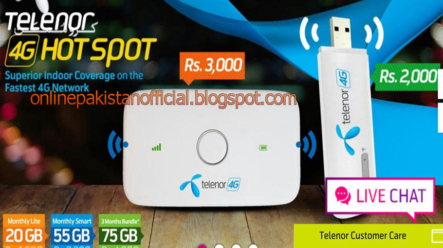 Telenor 4G Wingle and Mobile Wifi Packages