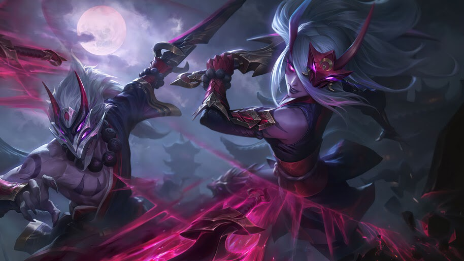 Blood Moon, Katarina, Splash Art, 8K, #7.1054