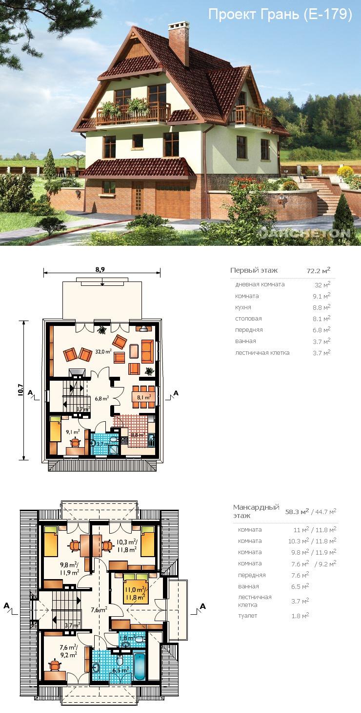 Проекты домов и коттеджей фото