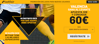 betfair supercuota Valencia gana Levante 14 abril 2019