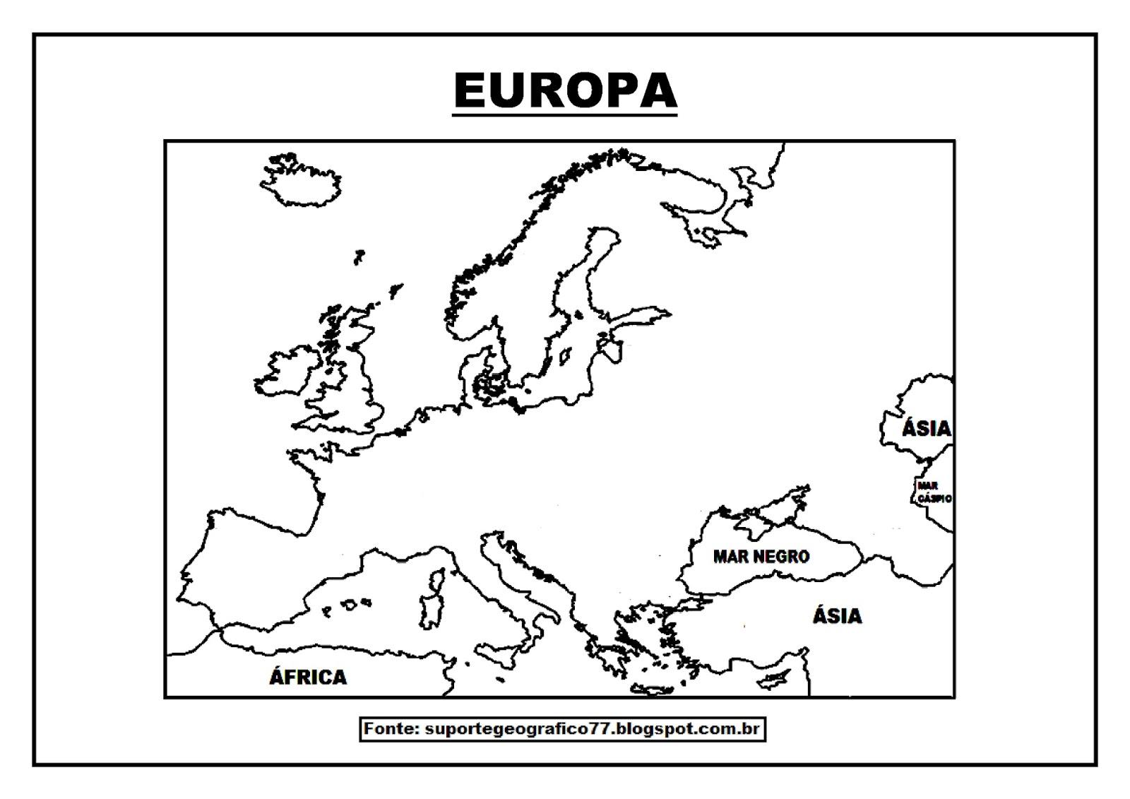 Suporte Geografico Europa Mapas Para Colorir
