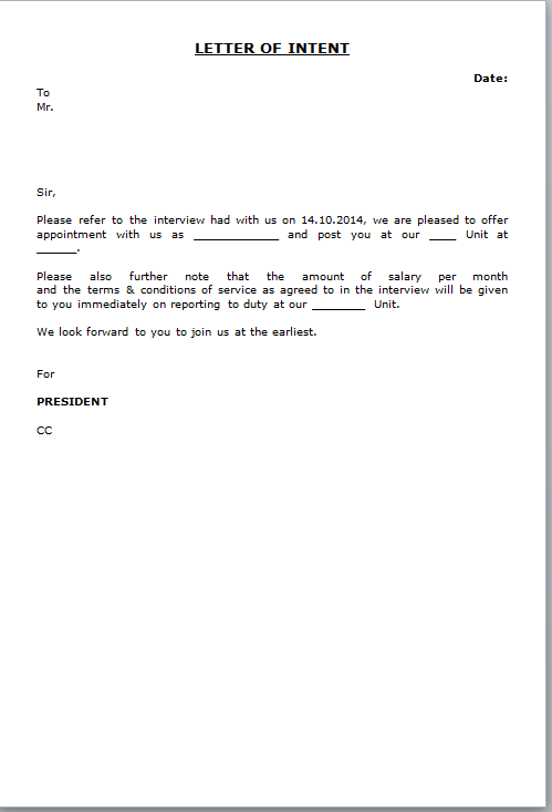 Sample Joining Letter From Company   Sample Letter Employee Not ...