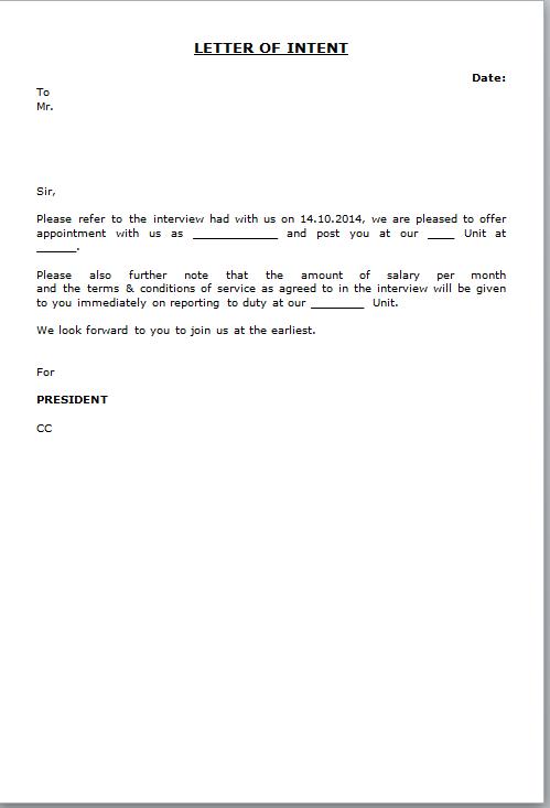 Bpo Job Offer Letter Format   Sample Job Application Letter