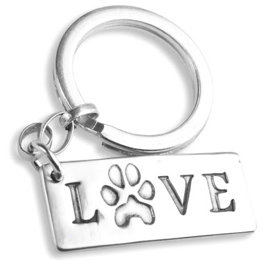 Silver-Pet-Prints-sterling-silver-jewellery-love-key-ring-with-pet-paw-print