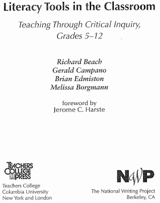 Digital Literacies: Virtually Connecting and Collaboratively Building Knowledge, literacy tools in the classroom, richard beach, digital literacies, digital literacy, richard beach review