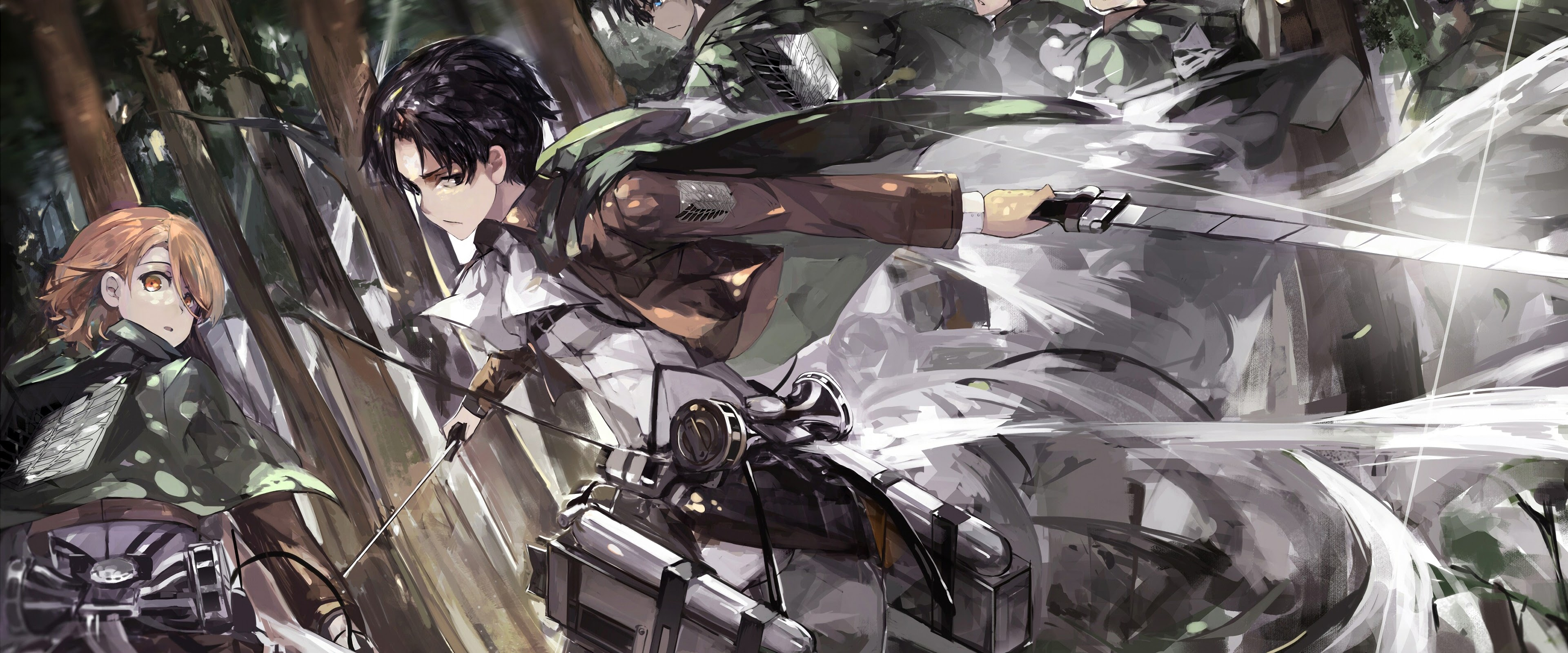 Levi Eren Survey Corps Attack On Titan 4k Wallpaper 75