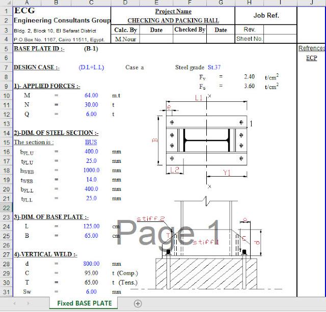 Fixed Steel Column Base Design - Engineering Society
