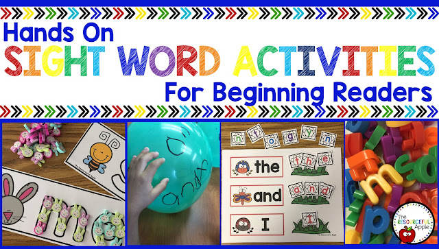 Hands On Sight Word Practice For Beginning Readers