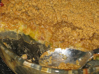 The finished crumble