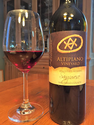2016 Altipiano Sangiovese Vintners Reserve