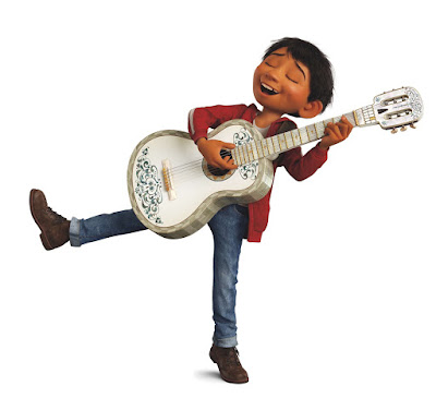 Miguel from Coco playing guitar