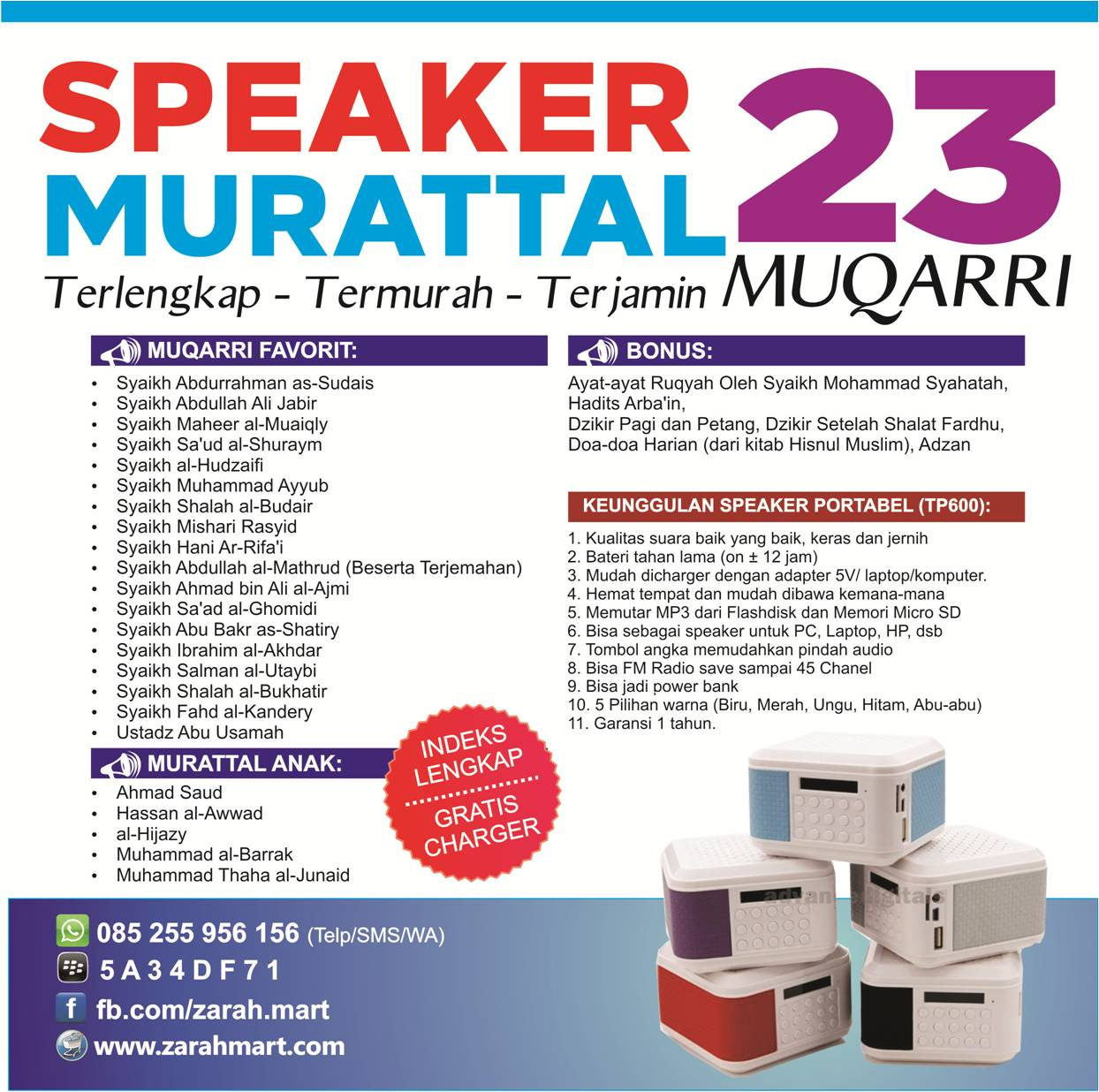 Speaker Murattal 23 Muqarri